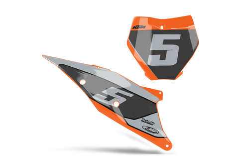 STORM CUSTOM NUMBER PLATE GRAPHIC KIT KTM