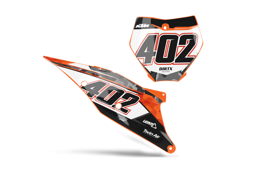 CAMO CUSTOM NUMBER PLATE GRAPHIC KIT KTM