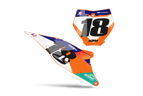 AVANT CUSTOM NUMBER PLATE GRAPHIC KIT KTM