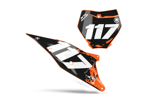 MULISHA CUSTOM NUMBER PLATE GRAPHIC KIT KTM