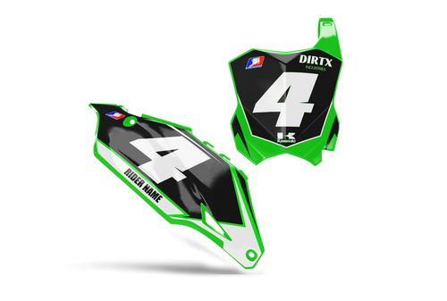 STORM CUSTOM NUMBER PLATE GRAPHIC KIT KAWASAKI