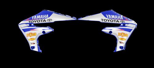 YAMAHA FACTORY JGR WHITEOUT SHROUD GRAPHIC KIT