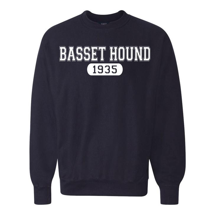 1935 Basset Hound Crew Sweatshirt