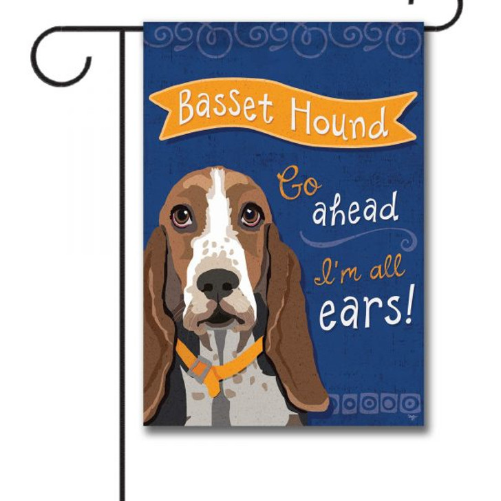 All ears basset hound flag
