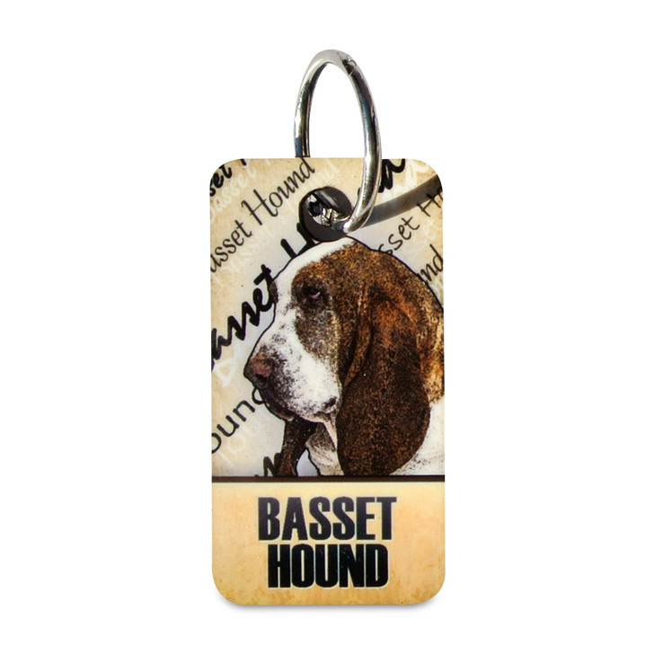 Color Works Basset Hound Key Chain