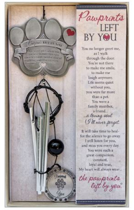 Pawprints Memorial Wind Chime