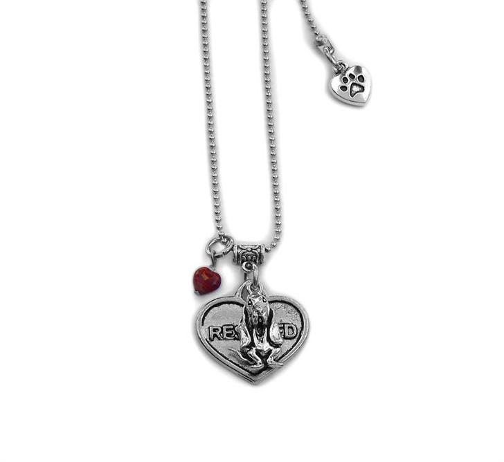 Rescue Basset Charm Necklace