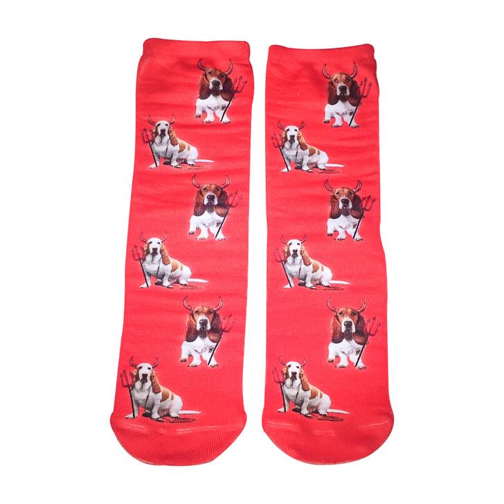 Basset Devil Socks