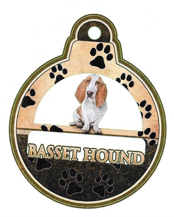 Laser cut basset hound ornament