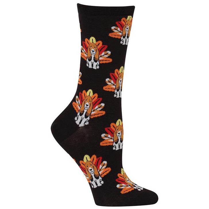 Basset hound turkey socks
