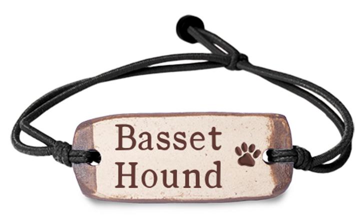 Basset Hound Clay Band Bracelet