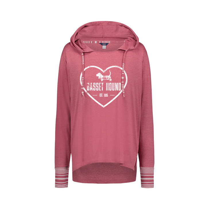 Basset Hound Heart Hooded Tee