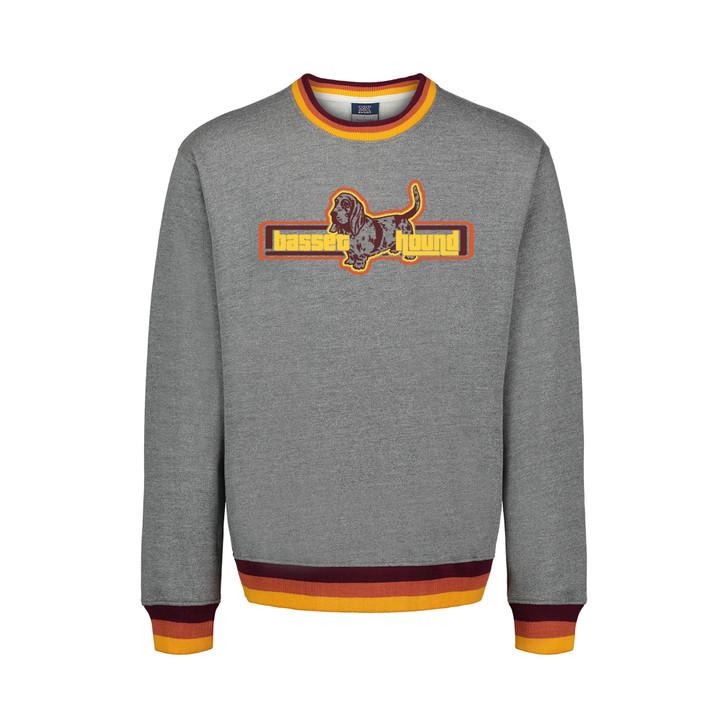 Retro Basset Hound Crew Sweatshirt