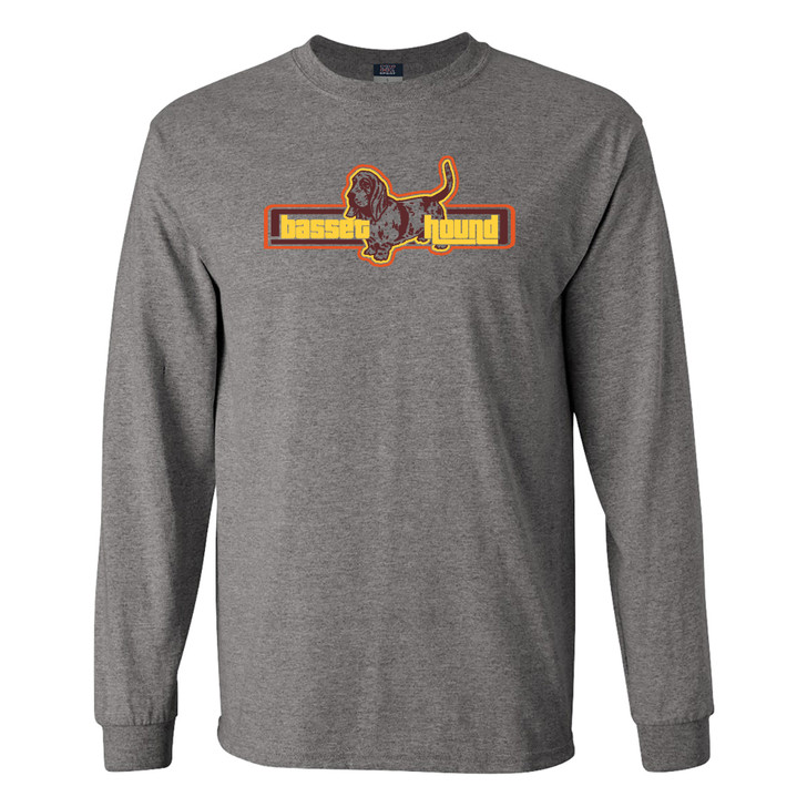 Retro Basset Hound Long Sleeve T-shirt