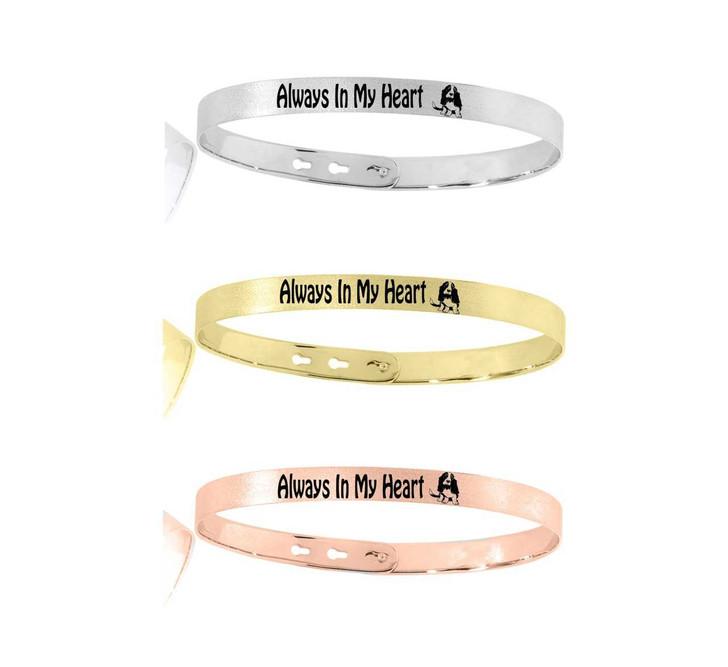 memory basset hound bracelet
