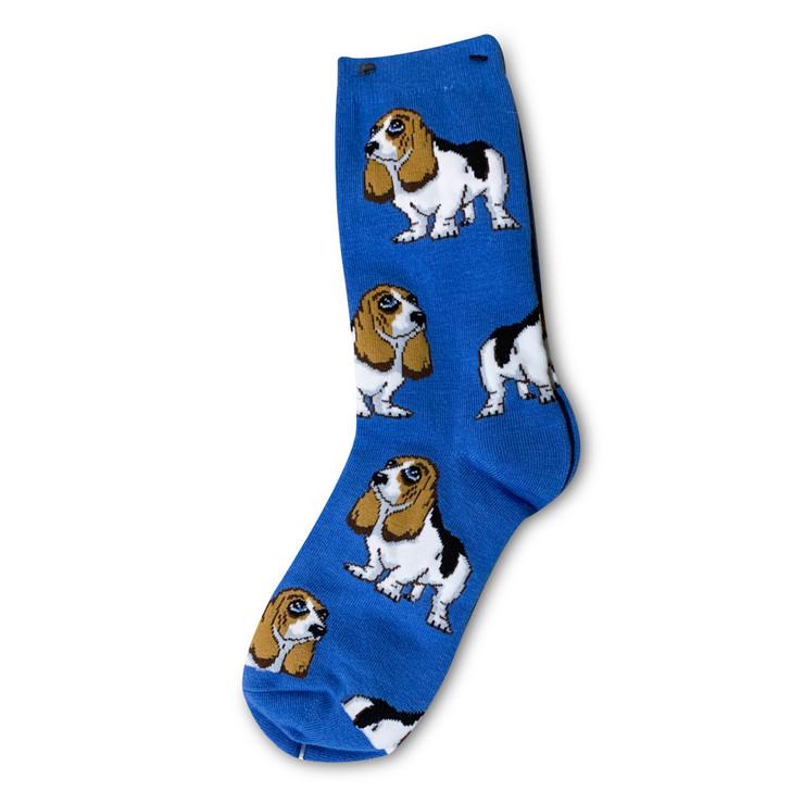 Big eyes basset hound socks