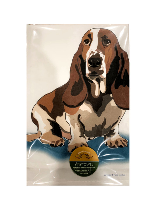 basset hound towel