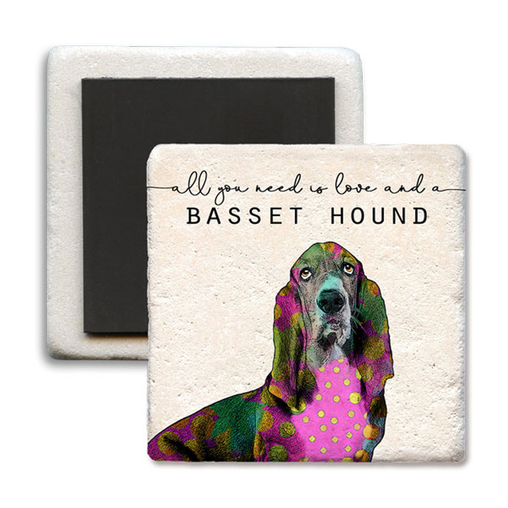 All you need basset limestone coaster