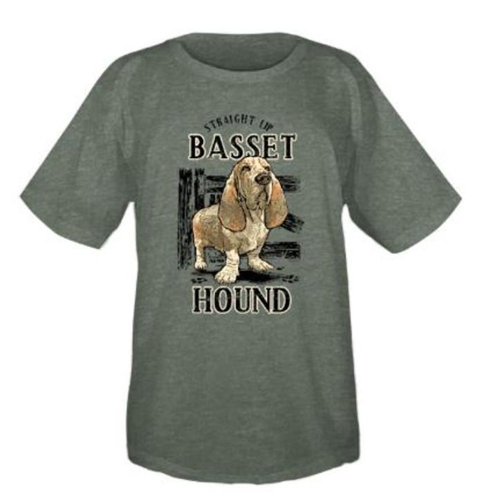 Straight Up Basset Hound T-Shirt