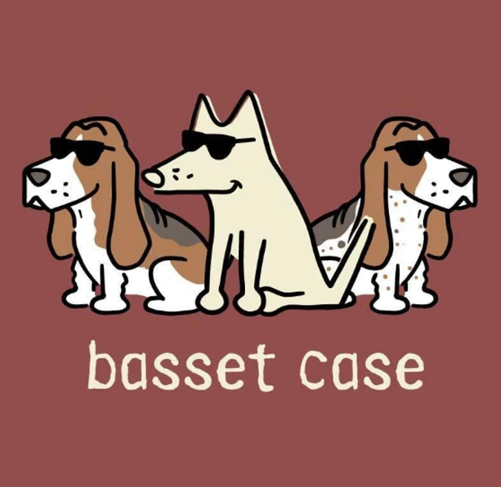 Basset Case by Teddy the Dog