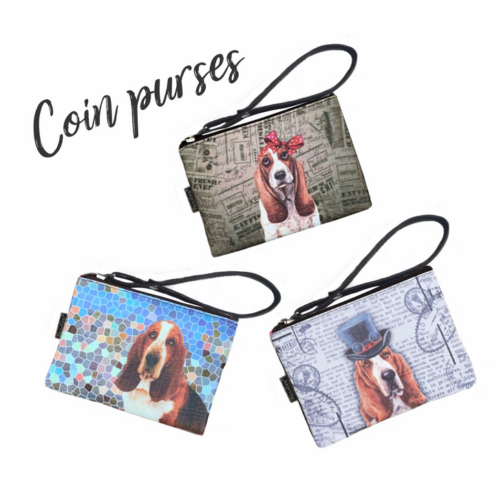 Vegan leather basset coin purses