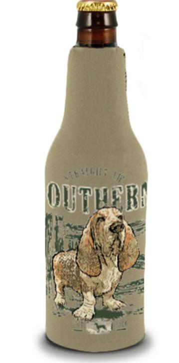 Basset Hound beer bottle Koozie