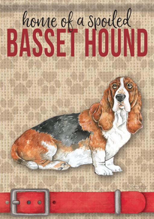 spoiled basset hound flag