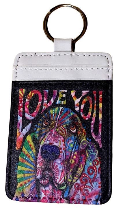 basset hound ID holder