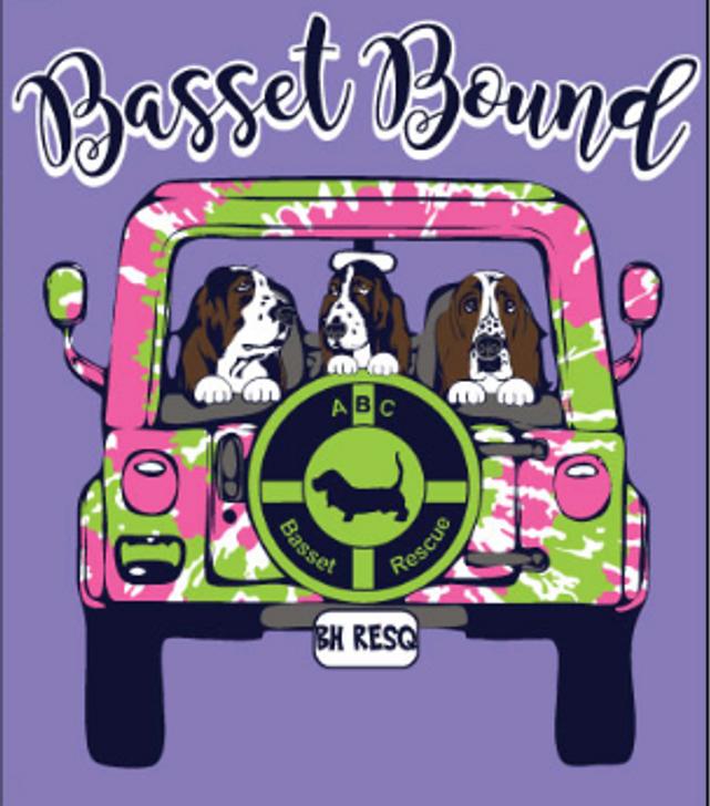 Basset Bound Jeep T-Shirt