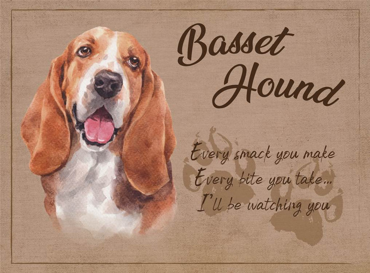 basset hound placemat