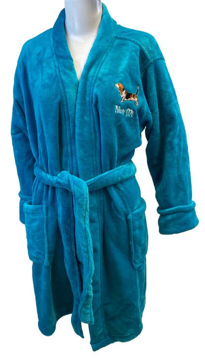 needy me basset hound bathrobe