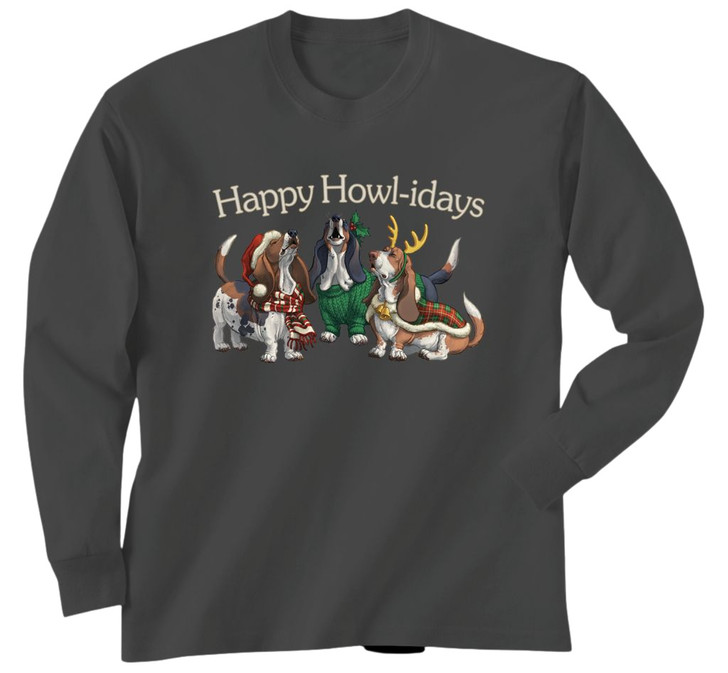 Happy Howlidays basset shirt