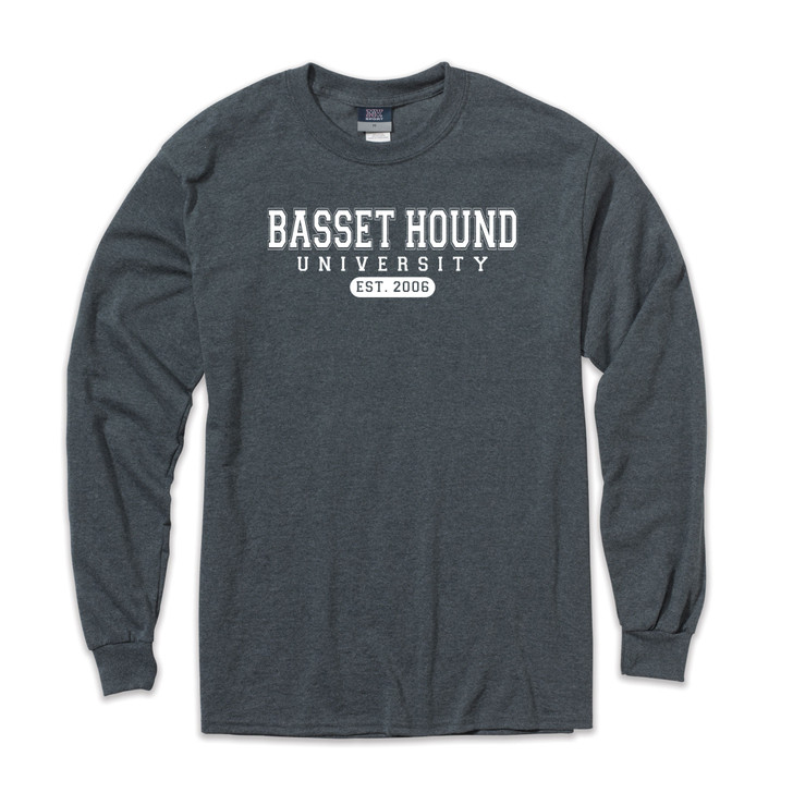 Basset Hound university long sleeve shirt