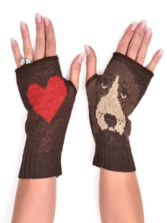 basset hound hand warmers fingerless gloves