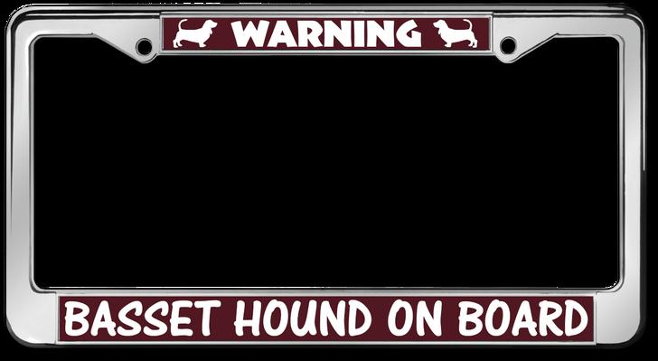 basset hound license plate frames