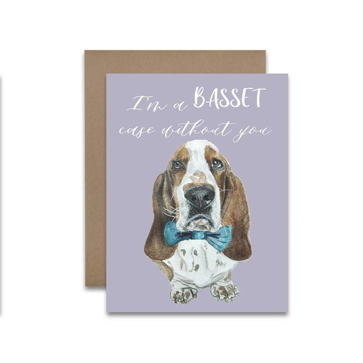 basset case greeting card