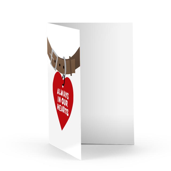 Pet Tag Sympathy Card