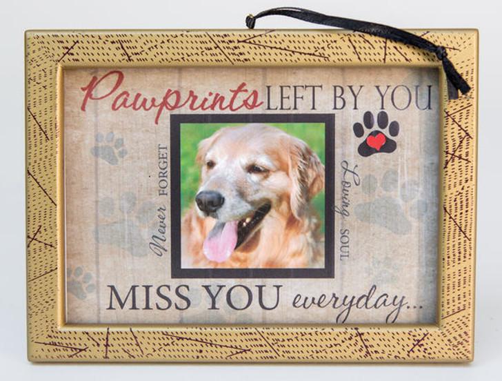 Pawprints Photo Pet Memorial Ornament