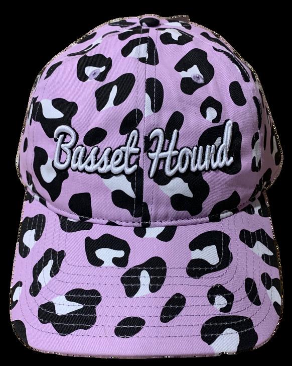 Basset hound leopard baseball cap