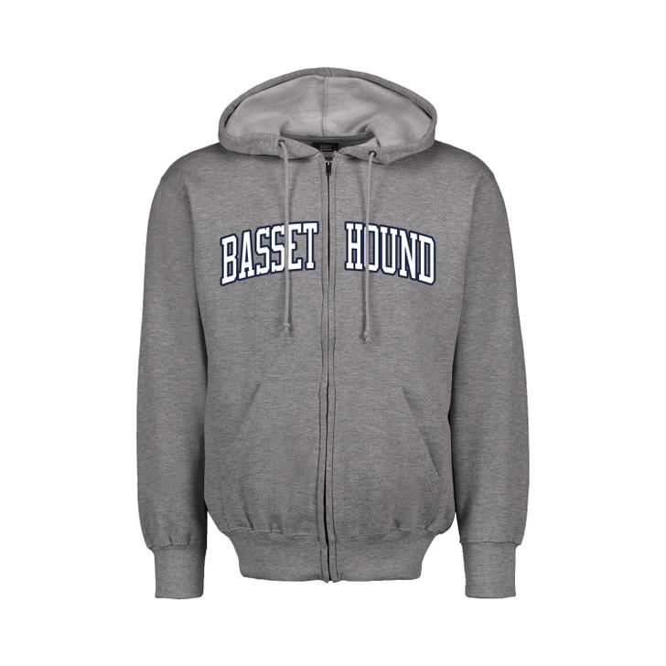 Basset Hound Full Zip hoodie