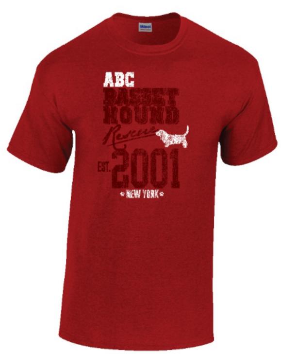 ABC Basset Hound Rescue 20th anniversary t-shirt