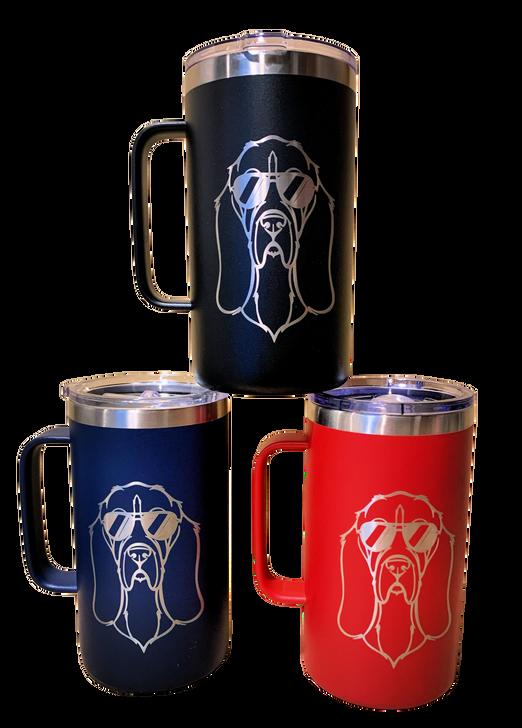 basset hound handled mug
