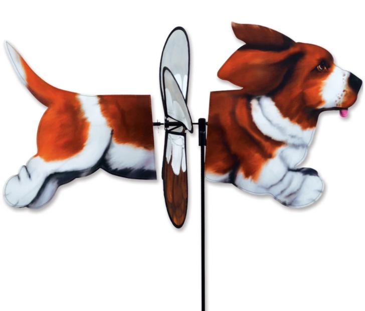 Basset Hound Deluxe Wind Spinner