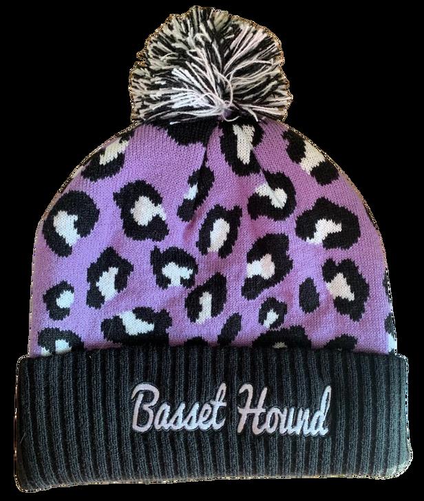 basset leopard hat