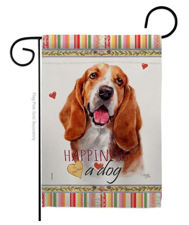 Happiness basset hound flag