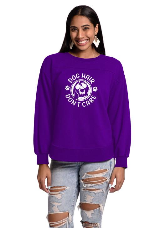 dog hair don't care sweatshirt