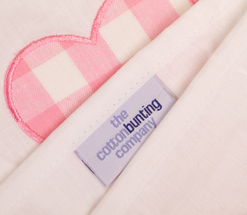 Pink Heart Bunting Cotton Bunting