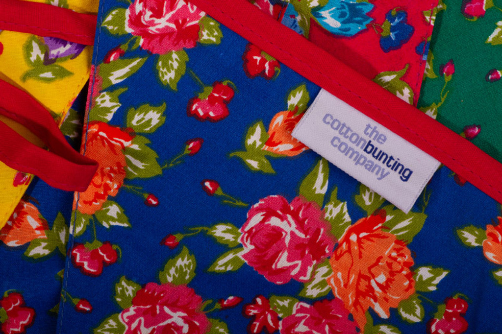 Bright Floral Bunting Close Up