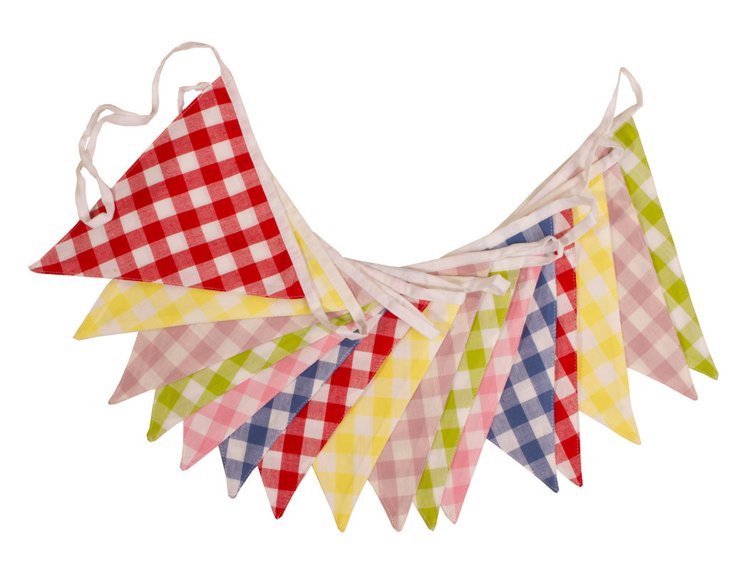 Large Gingham Check Bunting