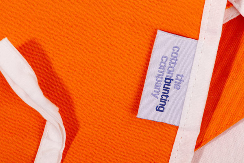 Orange and White Bunting Close Up